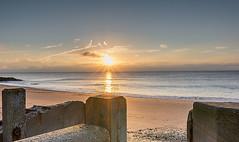 Sun Over Pillar (stephenhoward95) Tags: morning sea beach sunrise nikon sigma essex hollandonsea d7100