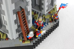 TTR5: Tall Towers (jsnyder002) Tags: wood roof tower castle water stone landscape model lego towers medieval tudor creation fortress wattle moc daub rockwork