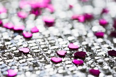 Brittle hearts (Tracey Rennie) Tags: pink macro silver heart bokeh confetti highkey coaster macromondays iwenttowalmart danasdiffuser