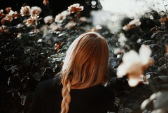 I am a garden of black and red agonies (.everlasting) Tags: roses selfportrait film girl 35mm garden agony analogue melancholy blackness everlasting feverdreams hadararielmagar