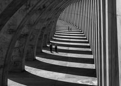 ribbed (Georgie Pauwels) Tags: street blackandwhite sun monochrome lines walking pattern shadows geometry candid streetphotography fujifilm ribbed