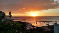 Salvador de Bahia - Brasil (cwb news) Tags: city sunset cidade brazil sun sol brasil bay mar do all harbour saints porto bahia salvador turismo litoral brasileiro por elevador nordeste poente baia lacerda nordestino