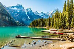 Moraine Lake (Steve Rosset) Tags: park lake canada mountains fall nature beautiful landscape rockies outdoors peaceful canadian hike canoe september adventure explore alpine alberta vista tranquil wander morainelake 2015