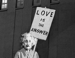 Love is the answer (only lines) Tags: streetart newyork sign einstein loveistheanswer