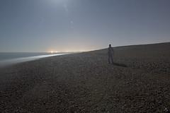 Beach walking (Alex Bamford) Tags: longexposure beach night worthing moonlight shoreham sleepwalking