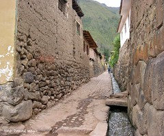 Adobe, Stone and Blockwork in Laneway in Ollantaytambo Village & Inca Archeological Site, Urabamba Province, Cusco Region, Peru (Black Diamond Images) Tags: peru southamerica stonework cusco perú adobe laneway américadosul amériquedusud zuidamerika sudamérica southernperu cuscoregion republicofperu repúblicadelperú cuscoprovince