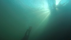 Light stripes (NiBlix) Tags: light underwater stripes diving quarry barges divin tournai