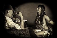 Mata Hari (Lesli Suzumi) Tags: portrait girl sex sepia project video smoke decoration cigar dancer east weapon pistol spy closeness bandit documentation temptation hari mata syndicate detective