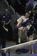 Allie Northey beam (4) (Susaluda) Tags: uw sports gold washington university purple huskies gymnastics dawgs