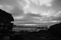 NORTH CURL CURL @ MANLY SYDNEY (dale hartrick) Tags: longexposure blackandwhite bw seascape beach sunrise landscape manly sydney australia naturalpool curlcurl northcurlcurl