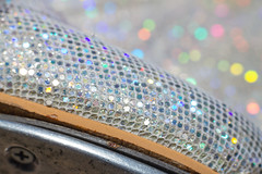 ...but don't fall in the sink (pollyjaney) Tags: macro texture silver rainbow shoes pattern bokeh depthoffield diagonal sparkly guiltypleasure tapshoes danceshoes macromonday teletonetap