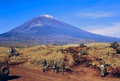 Maneuvers at Camp Fuji (Anaguma) Tags: japan nikon fuji rangefinder marines 1953 middlecamp photocopiedslide