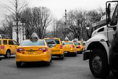 The shortest time unit (Reflexionist) Tags: auto ny newyork cars monochrome car yellow monocromo nikon traffic manhattan taxi giallo traffico d60 nikond60 nikonitalia autovetture reflexionist unitditempo unitoftime