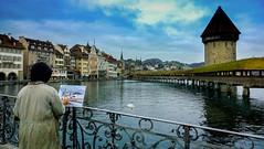 Chapel Bridge, Lucerne (dhingrab) Tags: bridge chapel lucerne kapellbrcke