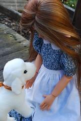 6. A Whimsical Easter Story (Little little mouse) Tags: bjd dollfie easterbunny tansy homemadedress kayewiggs tanlaryssa steifflindalamb