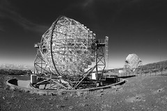 P2151912 (ernsttromp) Tags: spain canaryislands lapalma olympus epl3 pen 2016 microfourthirds mirrorless m43 mft bodycap fisheye 9mmf8 monochrome blackandwhite bw telescope space observatory roquedelosmuchachos hyperlink