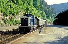 Calw  1984  211 178 (w. + h. brutzer) Tags: analog train germany deutschland nikon v100 eisenbahn railway zug trains db locomotive 212 lokomotive 211 diesellok eisenbahnen calw dieselloks webru
