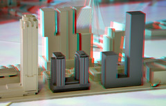 Maquette Havana & Philadelphia Rotterdam 3D (wim hoppenbrouwers) Tags: buildings 3d rotterdam anaglyph stereo kopvanzuid nieuwbouw redcyan rijnhaven kopvanzuidrotterdam maquettehavanaphiladelphia
