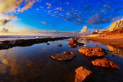 Sea & Sun beach at sunset - Tel-Aviv (Lior. L) Tags: sunset sea sun reflection beach israel telaviv