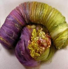Violetta Citrine Wild Card Bling Batt (yarnwench) Tags: felting spinning batt yarnwench artbatt