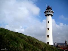 Holland Ligthouse (JaapCom) Tags: lighthouse holland tower dutch clouds town seaside toren dune zee historical vuurtoren sandhill seacoast aan egmond jaapcom