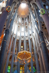 Sagrada Familia apse (pilgrim.ru) Tags: world barcelona travel light building tower art heritage history tourism church monument beautiful museum architecture modern site amazing spain europe catholic cathedral interior details famous religion gothic perspective landmark catalonia ceiling christian unesco nave fantasy gaudi column sagradafamilia jesuschrist apse