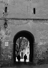 Sighisoara, Romania (PM Kelly) Tags: travel blackandwhite bw black blackwhite romania sighisoara transylvania bnw