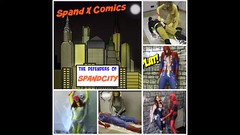 "YELLOW JACKET  ""ENTANGLED"" (Spandxcomics) Tags: fetish superhero bound spandex peril superheroine"