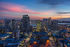 East Village Downtown San Diego (without reservation) Tags: california sunset eastvillage bay downtown cityscape sandiego icon gaslamp citylights themark petcopark sempra sonya7r