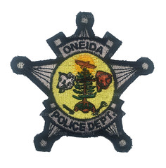 Oneida Police Badge Patch (Nate_892) Tags: county green wisconsin bay coin conservation police grand valley badge fox milwaukee waukesha sheriff patch tribe sheboygan gresham wi chute challenge swat oneida outagamie