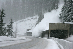 I-90 snowshed east of Snoqualmie Pass (WSDOT) Tags: snow construction bridges avalanche snowshed wsdot i90snoqualmiepass