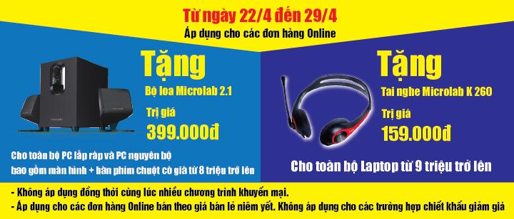 Khuyến mại lớn dành cho khách hàng mua Online tại Hanoi Computer