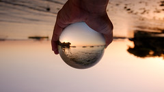 Sunrise inside the crystal (Hendraxu) Tags: morning travel sun beach sunrise ball lens dawn fuji crystal philippines bohol fujifilm kit xc panglao alona travelphotography xm1 1650mm