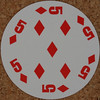 Round Playing Card 5 of Diamonds (Leo Reynolds) Tags: xleol30x squaredcircle playing card playingcard deck carddeck sqset126 canon eos 40d xx2016xx