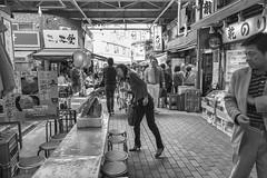 FISH HEAD (ajpscs) Tags: street people blackandwhite bw blancoynegro monochrome japan japanese tokyo blackwhite alley ueno outdoor streetphotography monochromatic  nippon  blkwht grayscale fishhead  monokuro ajpscs nikond750