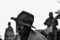 Tibetan (DanieleS.) Tags: street travel portrait white black hat wow photography photo amazing cool strada shot good great tibet di tibetan fotografia dannyboy bianco nero daniele ilovedannyboy