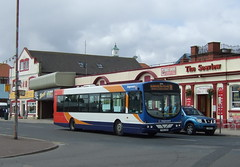 Skegness (Hesterjenna Photography) Tags: urban bus volvo coach tourist lincolnshire wright stagecoach psv skegness holidaymaker wrightbus stagecoachlincolnshire stagecoacheastmidlands fx05gxm wrightcoachbuilders