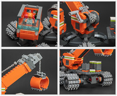 Moon Cheese Crane (Galaktek) Tags: lego space scifi minifig galaktek