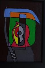 D is for Death (Empress of Blandings) Tags: blue orange black green art colors yellow illustration contrast dark painting skulls skeleton death skull grey artwork colorful acrylic colours gloomy bright d gothic gray goth doodle bones hood doodles lettering colourful calligraphy skeletal acrylicpaint doodling scythe letterd dletter letterart
