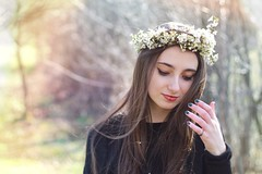 spring (Penescu Marius) Tags: flowers flower girl beautiful canon hair 50mm spring long 50mm18 girlinnature canoneos1100d