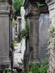 New Orleans - In Between (Drriss & Marrionn) Tags: usa cemetery grave graveyard concrete outdoor neworleans headstone tomb graves funeral mausoleum granite sarcophagus burial marble tombs lafayettecemetery deceased gravefield vaults crypts neworleansla