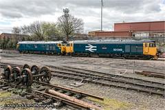 "BR Class 50: 50035 ""Ark Royal"" and 50049 ""Defiance"" (AndyLock) Tags: railway steam severn valley arkroyal defiance svr severnvalleyrailway kidderminster bewdley 50035 50049 brclass50 photocharter"