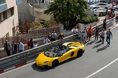 Lamborghini Aventador SV Roadster & Some Spotters (SupercarLust) Tags: monaco exotic giallo supercar 2016 spotters topmarques lamborghiniaventadorsvroadster