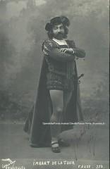 IMBART DE LA TOUR, Georges, Faust (Operabilia) Tags: claudepascalperna opra goldenage opera faust gounod autograph autographe georgesimbartdelatour tenor monnaie