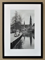 Classical Uppsala: Cathedral and Fyrisn (p2-r2) Tags: blackandwhite church river print nikon cathedral sweden developer 400 uppsala enlarger iv rc rapid ilford fa domkyrka durst selenium fixer fyrisn kentmere multigrade nikkor50mmf12ais m305 mulitgrade