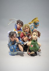 Street Fighter Queens Bust Set (Telasio86) Tags: street li fighter queens bust cap chun r sakura karin gashapon fighting mika cammy