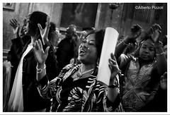 Congolese community celebrates the Holy Mas (alberto pizzoli) Tags: street city people urban blackandwhite italy rome cityscape citylife streetphotography urbanexploration ita streetphoto urbanscene