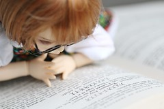 Book (AluminumDryad) Tags: reading glasses book ginger doll bjd resin sherlockholmes fairyland ante balljointeddoll photochallenge adad ltf tinybjd littlefee adolladay april2016