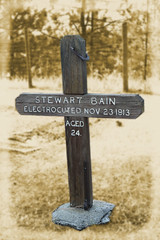 electrocuted 1913 (tonywild241) Tags: canada heritage cemetery grave landscape sad cross headstone remembrance mostviewed canadiancemetery vernonbc okanaganbc pleasantvalleycemetery