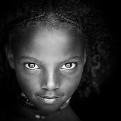 Toumh, a little Borana girl (Cyril Blanchard) Tags: voyage africa travel portrait people blackandwhite girl beauty female square photography photo natural outdoor country young culture tribal noflash explore valley tribes omovalley tradition ethiopia tribe ethnic younggirl afrique developing tribu nomakeup nomade nomadic omo thiopien etiopia bluebackground ethiopie traditionalclothing realpeople etiopa humanface nomades explored africanpeople  borana africanethnicity 1people ethnie indigenousculture onegirlonly etipia  nomadicpeople traditionallifestyle  elsoda tsamay valledelomo  onefemaleonly boranatribe southernnations symetricportrait traditionalhair indigeneousculture  goufo personnesnomades personnenomade